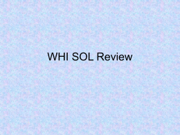WHI SOL Review