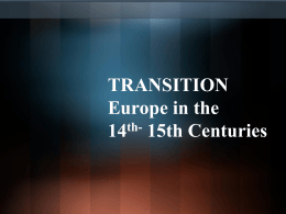 Transition Europe in the 14th Century