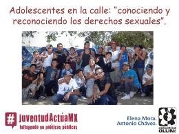 Adolescentes en la calle: Conociendo y Reconociendo los