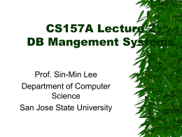 Chapter 1: Introduction - SJSU Computer Science …