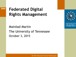 Federated Digital Rights Management