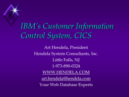 IBM's Customer Information Control System, CICS