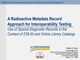 A Radioactive Metadata Record Approach for
