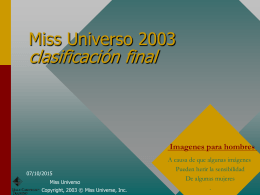 Miss Universo 2002 classifica finale