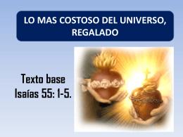 LO MAS COSTOSO DEL UNIVERSO, REGALADO