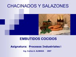 CHACINADOS Y SALAZONES - Universidad Nacional de …