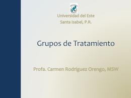Grupos de Tratamiento - carodriguezorengo | Social Work
