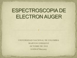 ESPECTROSCOPIA DE ELECTRON AUGER