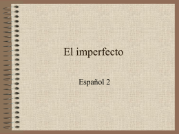 El imperfecto - Brooklyn City Schools