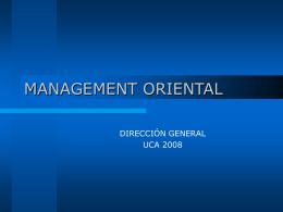 MANAGEMENT ORIENTAL