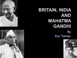 Britain, India and Mohatma Gandhi