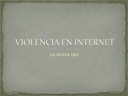 VIOLENCIA EN INTERNET - MURAL