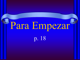 Para Empezar - Livingston Public Schools / LPS Homepage