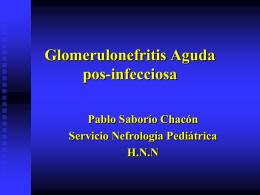 Glomerulonefritis Aguda pos
