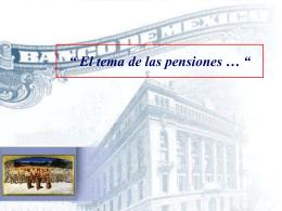 Mexico: El Tema de las pensiones