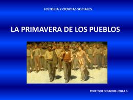 PRIMAVERA DE LOS PUEBLOS