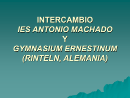 INTERCAMBIO IES ANTONIO MACHADO Y GIMNAZIJA …