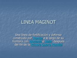 LINEA MAGINOT - Monica alfaro
