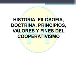 PRINCIPIOS Y VALORES COOPERATIVOS