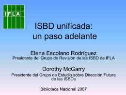 ISBD: the challenge of updating standardization whilst