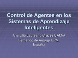 Control de Agentes en los Sistemas de Aprendizaje …