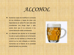 ALCOHOL - Instituto Juan XXIII