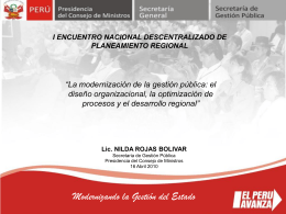 Diapositiva 1 - Gobierno Regional La Libertad
