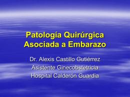 Patologia Quirurgica Asociada a Embarazo