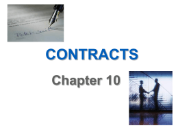 Business and the Law of Contracts-