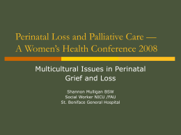 Dealing with Grief and Loss in a Multicultural Society