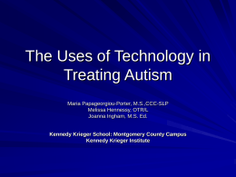 The Uses of Technology in Treating Autism