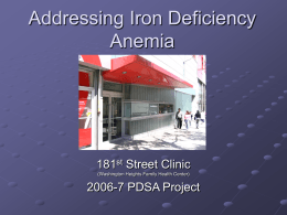 Combating Iron Deficiency Anemia