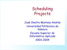 Scheduling Projects