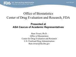 The Roles of Stat at CDER/FDA