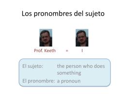 Los pronombres del sujeto