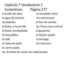 Capitulo 1 Vocabulario 1 Adjectivos