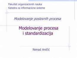 Modelovanje poslovnih procesa