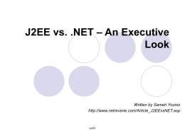 J2EE vs. .NET – An Executive Look
