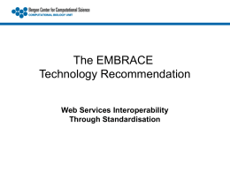 Web Services Interoperability Through Standardisation