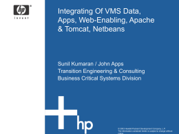 Integrating Of VMS Data, Apps, Web