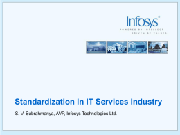 Standardization in IT Services Industry