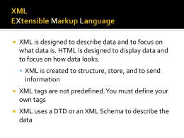 XHTML is similar to HTML, but is designed to work with XML