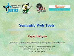 Semantic Web Tools