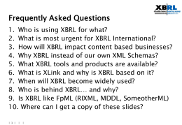 XBRl - Frequently Asked Questions