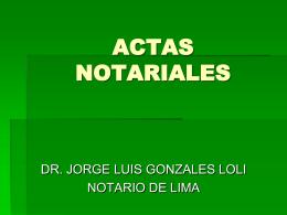 INSTRUMENTOS NOTARIALES EXTRAPROTOCOLARES