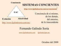 Sistemas Concientes - Fernando Galindo Soria