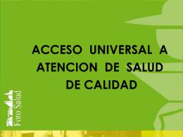 II CONFERENCIA NACIONAL DE SALUD: PRINCIPALES …