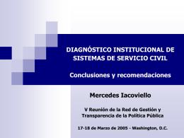DIAGNOSTICO INSTITUCIONAL DE SISTEMAS DE …