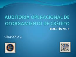 AUDITORIA OPERACIONAL DE OTORGAMIENTO DE …