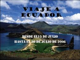 ITINERARIO DE ECUADOR - Libero - Community